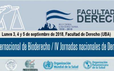 4º Seminario Internacional de Bioderecho. IV Jornadas nacionales de Derecho de la Salud